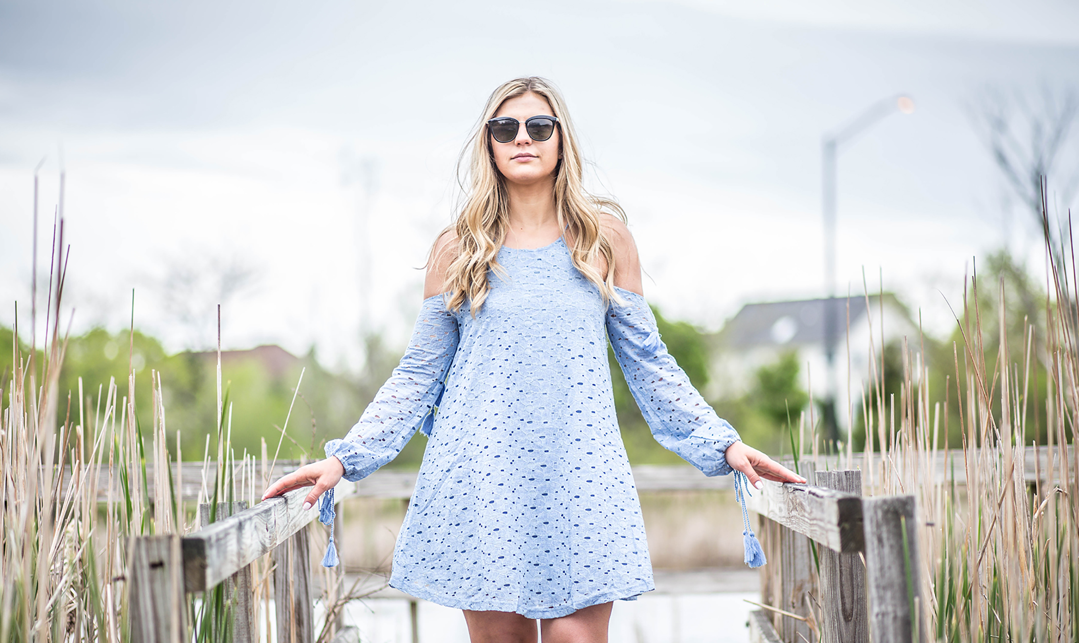 lace cold shoulder dress 1
