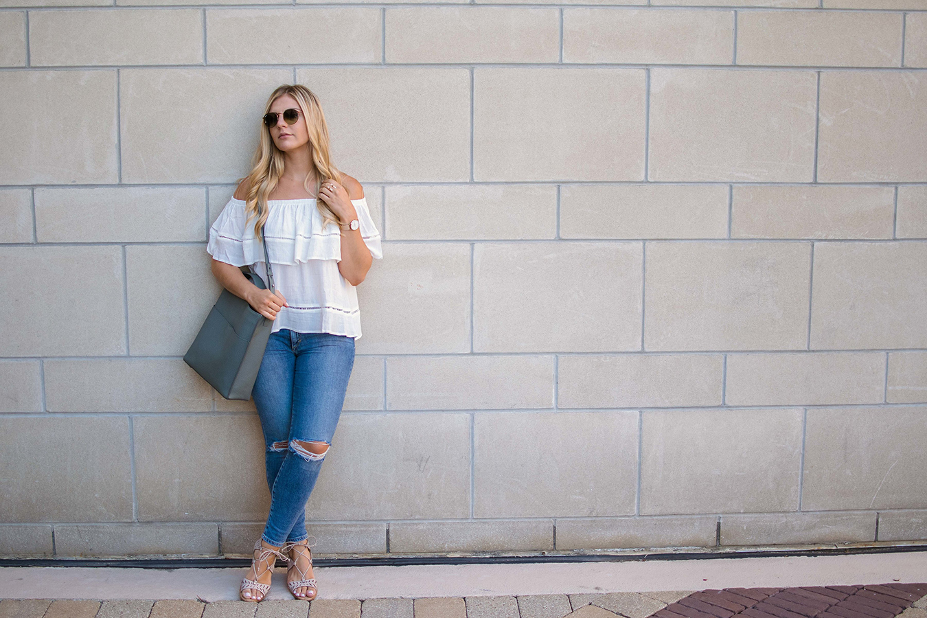 Flounce Off the Shoulder Top 10