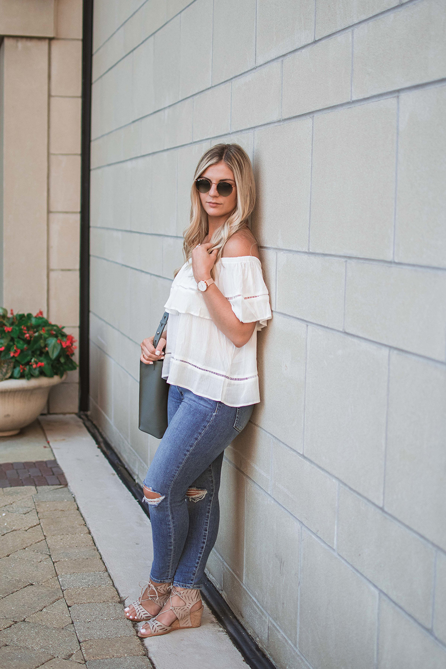 Flounce Off the Shoulder Top 7