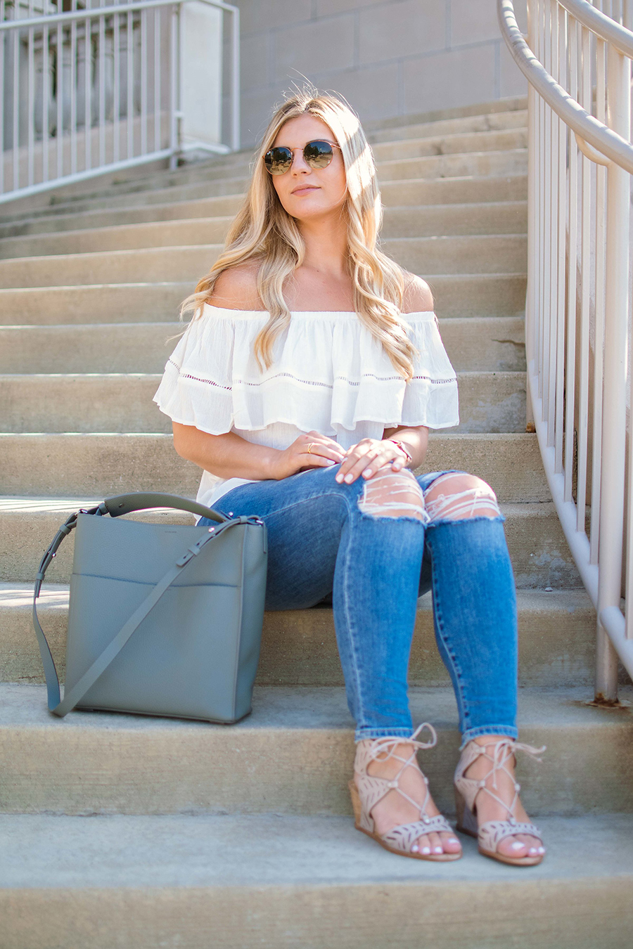 Flounce Off the Shoulder Top 6