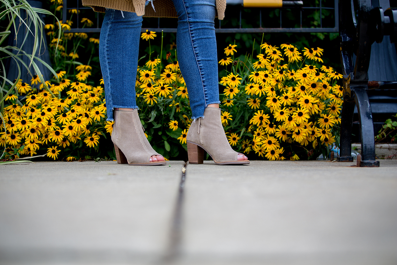 Peep toe booties 5