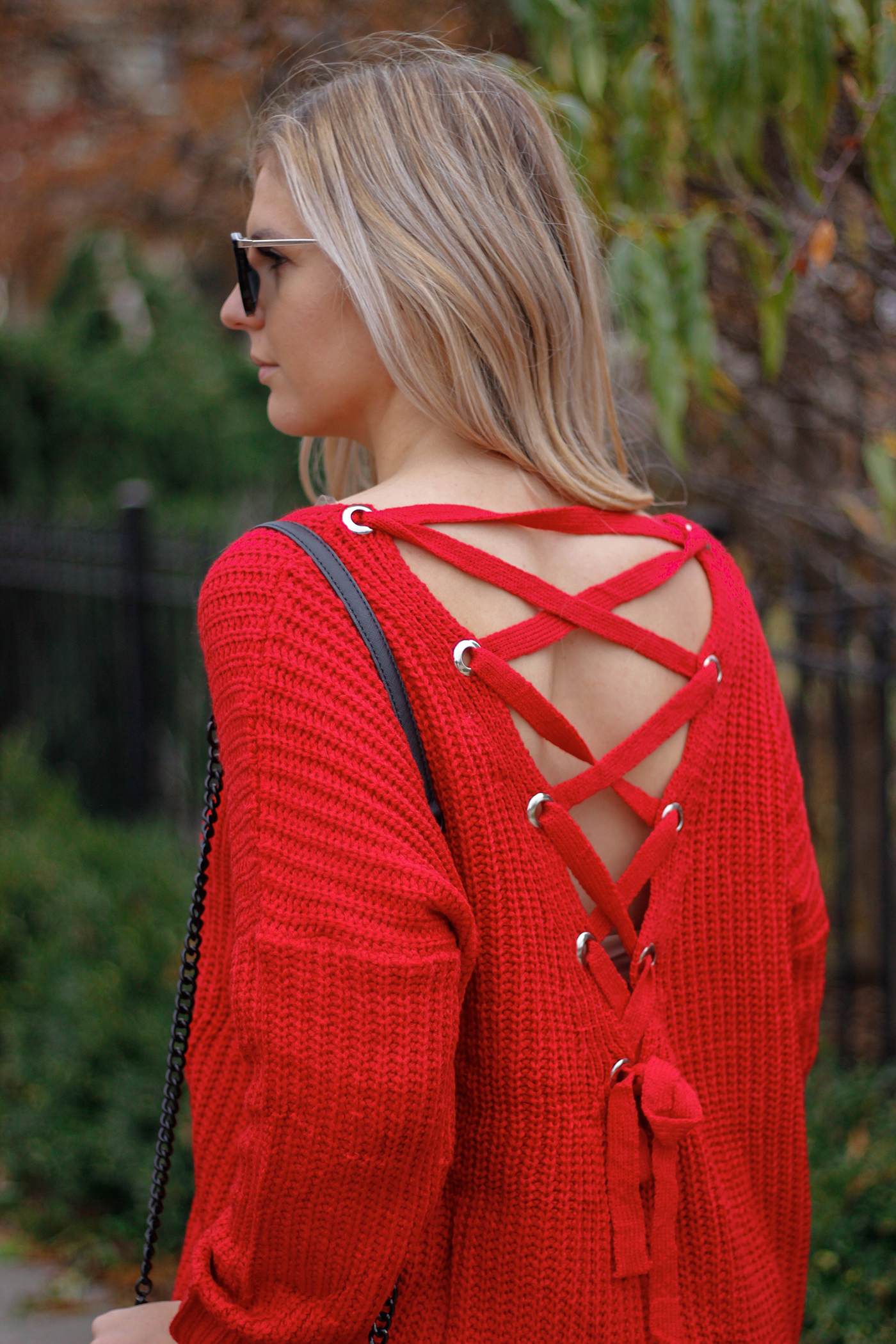 lace up back sweater 5