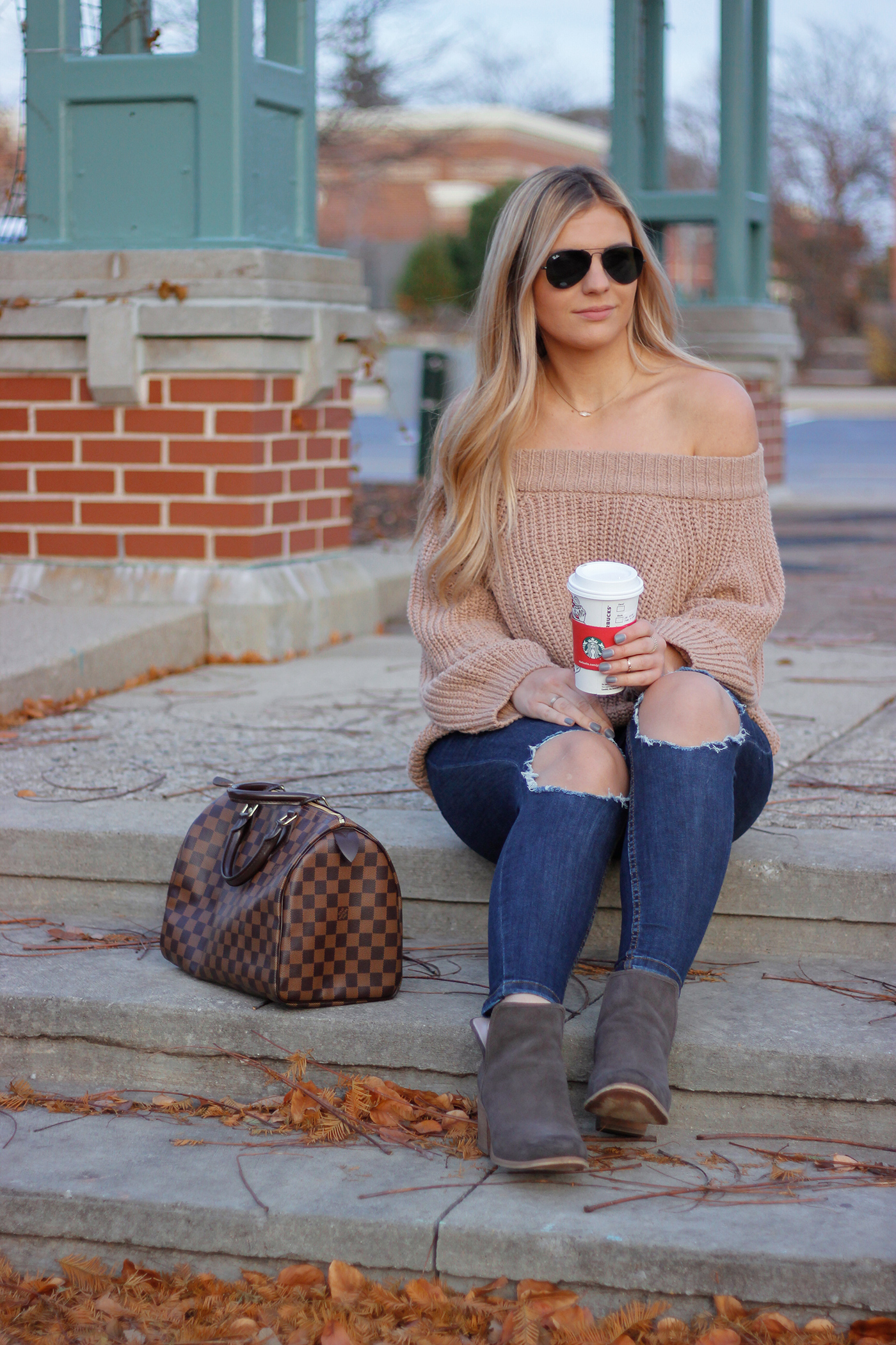 Knit Off the Shoulder Sweater 10