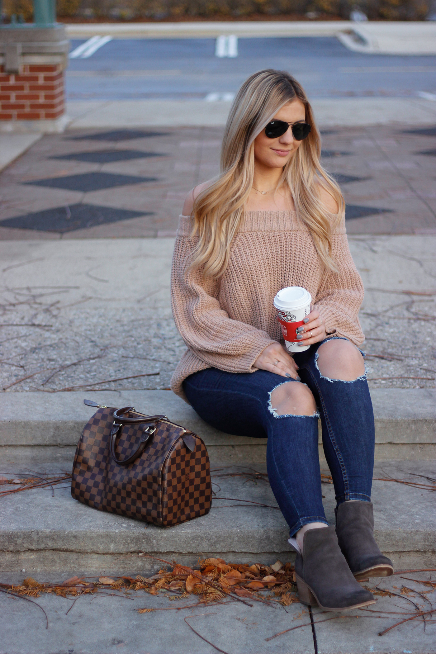 Knit Off the Shoulder Sweater 6