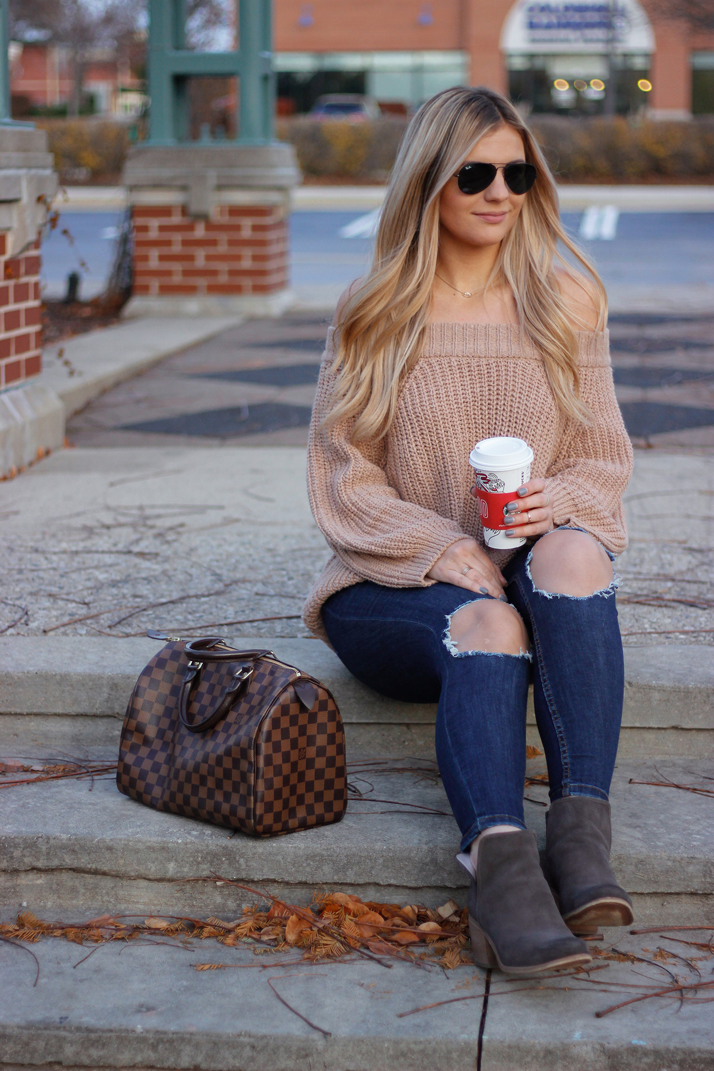 Knit Off the Shoulder Sweater 2