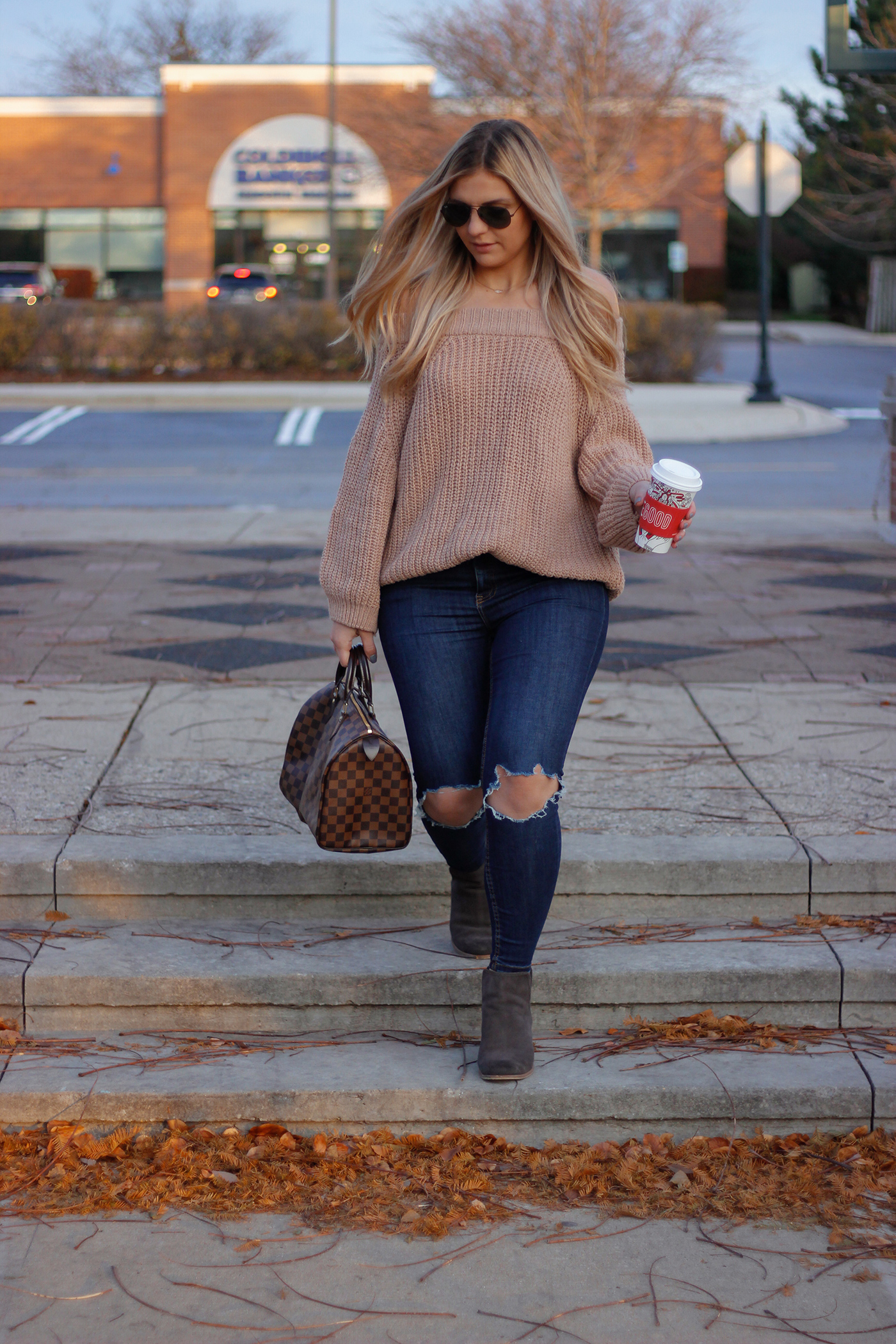 Knit Off the Shoulder Sweater 9